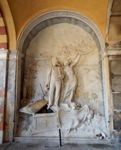 Grabmal Guiseppe Pongilione auf dem Cimitero monumentale di Torino von 1886